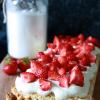 Kokos shortcake met aardbeien