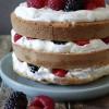 Zomerse slagroom fruit taart