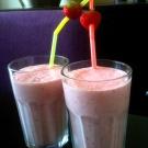 Aardbeien milkshakes