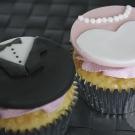 Bruidspaar cupcakes