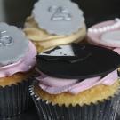 Zilveren cupcakes - decoratie manier
