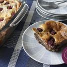 Frambozen Cheesecake Brownie
