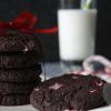 Chocolade candy cane koekjes