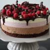 Chocolade frambozen mousse taart
