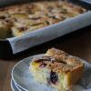 Plaatcake met zomerfruit