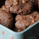 Chocolade caramel koekjes