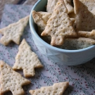 Knapperige kaas crackers