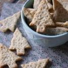 Knapperige kaas crackers