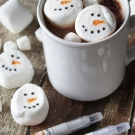 Sneeuwman marshmallows