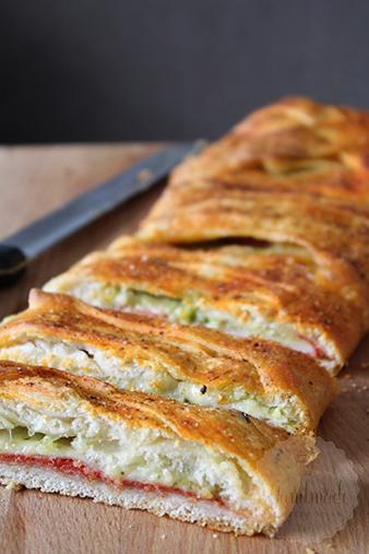 Gevuld pizza brood - Stromboli | HandmadeHelen