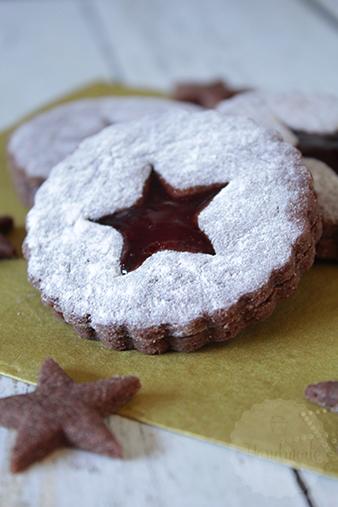 Chocolade linzer koekjes | HandmadeHelen