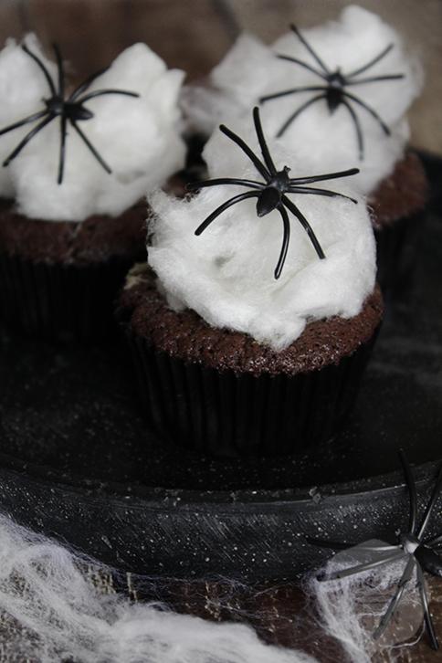 Spinnenweb cupcakes | HandmadeHelen