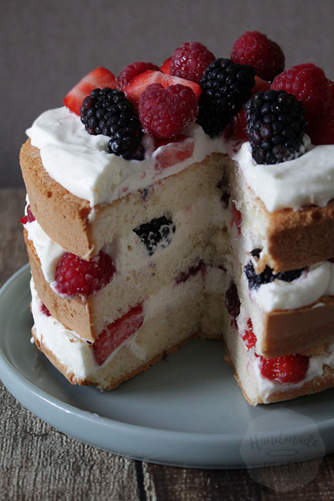Zomerse slagroom fruit taart | HandmadeHelen